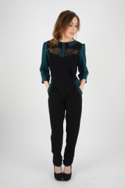 ensemble_top_pantalon_noir_bleu_petrole_louise_religieux