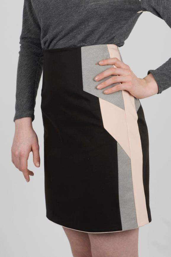 jupe droite graphique