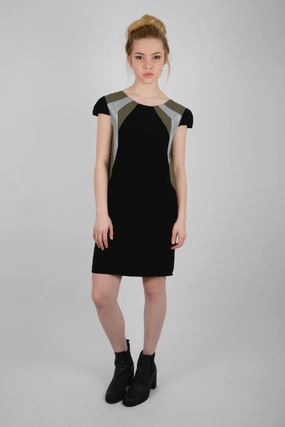 robe graphique noire printemps 2017