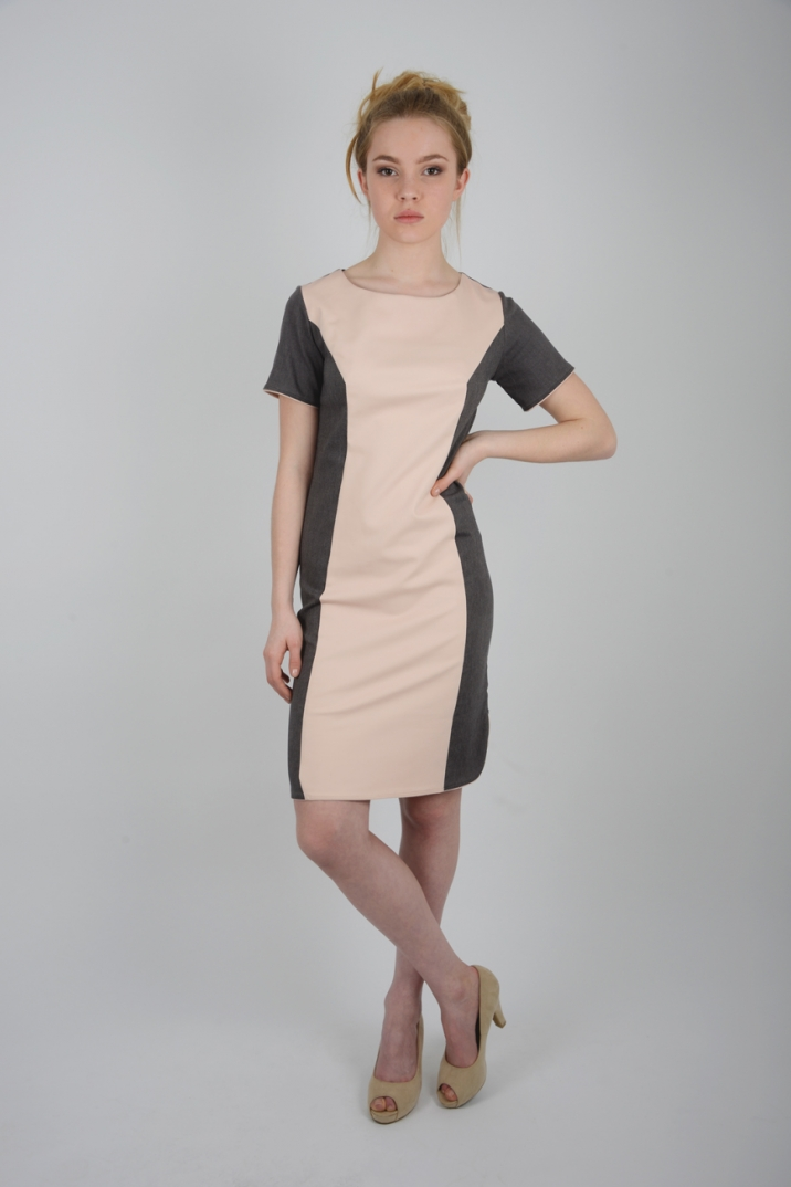 robe ajustée sixties printemps rose